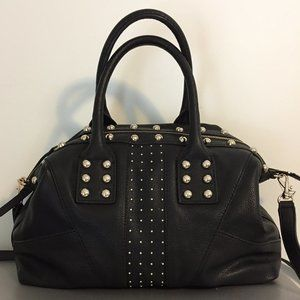 Black Studded GUESS Satchel